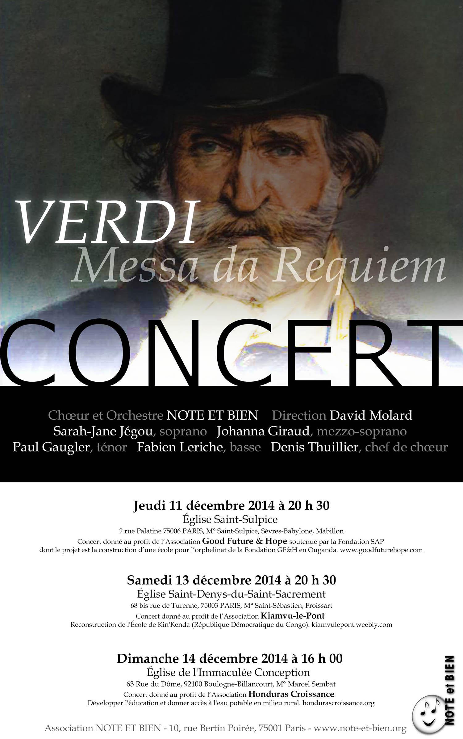 Verdi Requiem decembre 2014